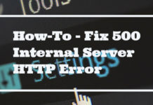 Fix 500 Internal Server HTTP Error