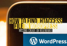 How to find .htaccess file in Wordpress